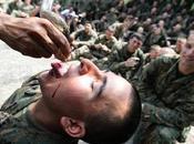 Marines, ingoiano sangue cobra. FOTO