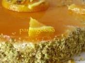 ARANCE PASSIONE: Cheesecake all'arancia granella pistacchio