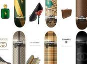 Skateboard delle griffe moda: Louis Vuitton, Gucci, Burberry, Prada, Chanel Ralph Lauren