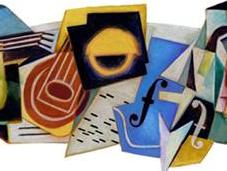 Cubismo Juan Gris doodle Google