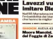Foto,ecco prima pagina della Gazzetta dello Sport…Lavezzi cerca imitare Maradona..